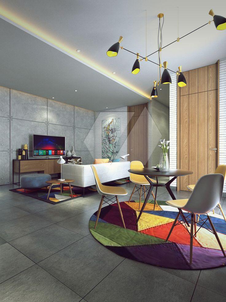 Ide interior ruang tamu fullcolor | Portofolio By : Dimas Daforza (Interior Designer di Sejasa.com)