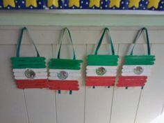Bandera Mexicana....actividad para festejar el dìa de la independencia de México...VIVA MÉXICO!!!