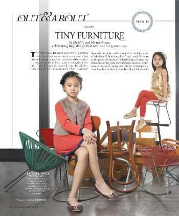 Town & Country - Aug-12 - Page 40.  Tiny Furniture exhibit at Mondo Cane & MoMA.