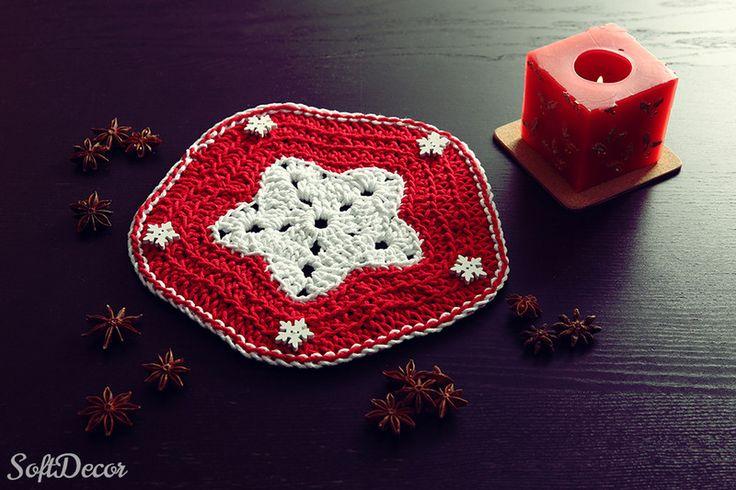 Świąteczna serwetka w SoftDecor na DaWanda.com
