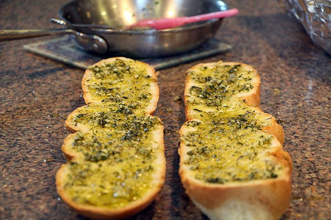 Olive Oil Garlic Herb Bread ready to wrap and place in the oven