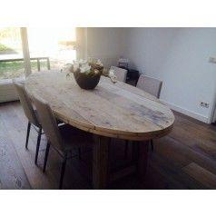 Ovale tafel van steigerhout - Eettafels - Woon- eetkamer
