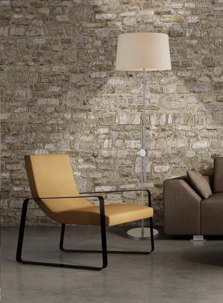 Luce Lumen Ashley lampe de plancher ajustable nickel brossé LL1022F