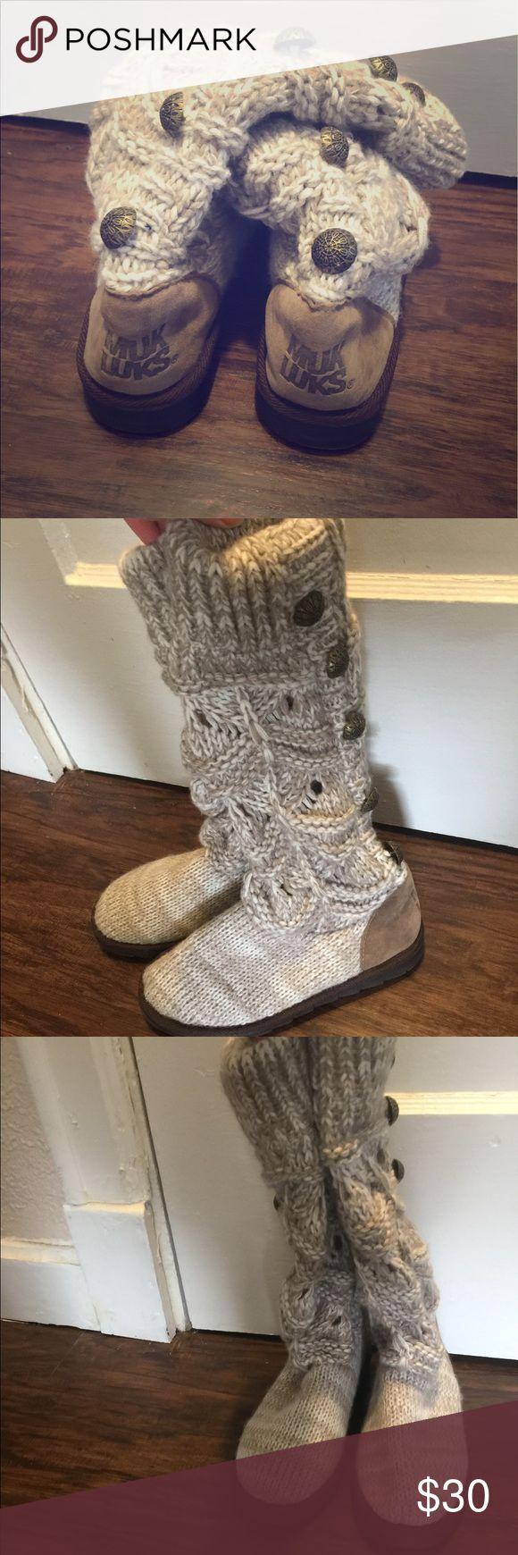 Muk luk knit boots New condition wore only once Shoes Winter & Rain Boots