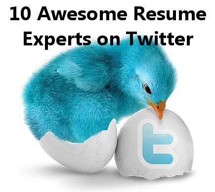 10 awesome resume experts on twitter - Resume Experts