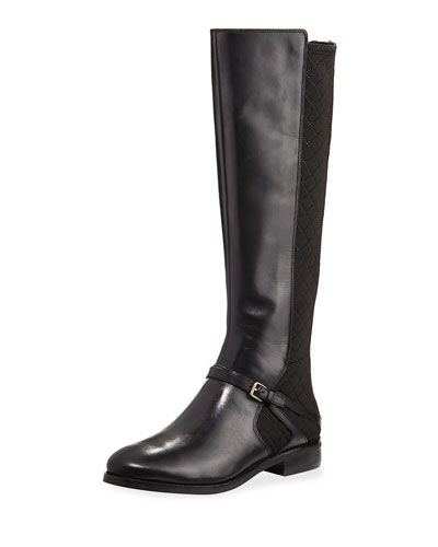 Imogene Quilted Mid-Calf Boot, Black