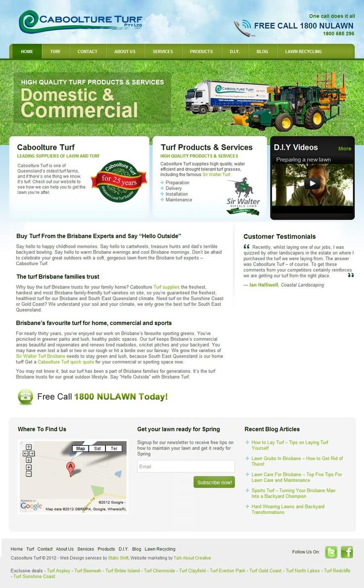 Web Design for Caboolture Turf in Brisbane