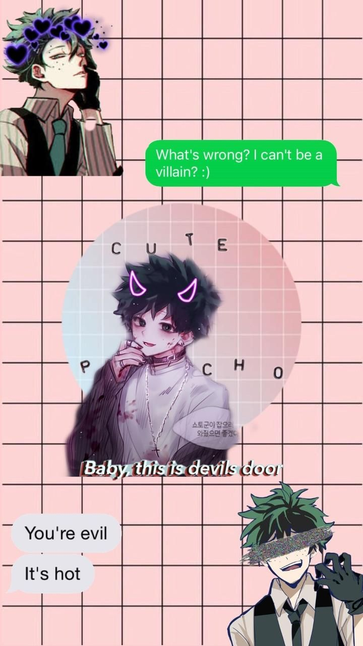 Mha Aesthetic Wallpapers Wallpaper Cave Dont Touch My Phone Wallpapers Aesthetic Anime Anime Wallpaper