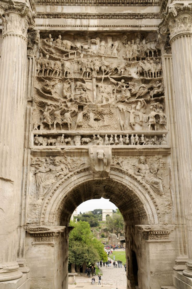 Ancient World -Arch Of Trajan, Detail, Rome, province of Rome, Lazio region Italy