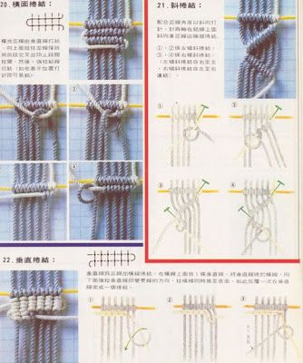 lots of good macrame  picture tutorials (not in English though)