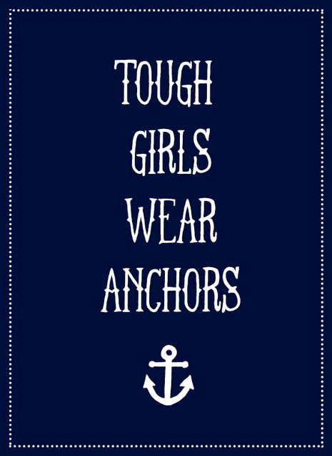 Not so tough girls also wear anchors. But, tough or soft, we were all proud to do our duty.in the United States Navy.
