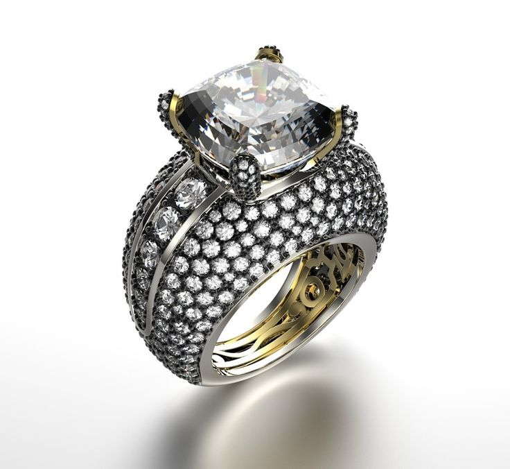 21 best 18kt White Gold Diamond Rings images on Pinterest