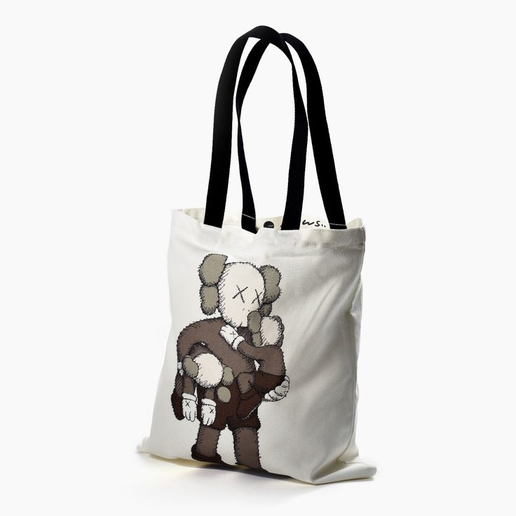 KAWS Clean Slate Tote Bag:   Lined canvas bag designed by KAWS to accompany his 2016 exhibition at Yorkshire Sculpture Park.