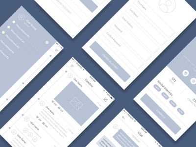 Mobile Wireframe Kit on UI Space