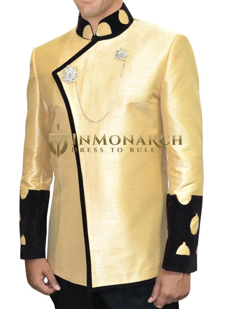 Occasional Golden rod yellow Nehru Jacket