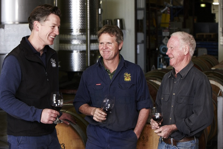 Justin Purser our Winemaker with Ben and Viv Thomson