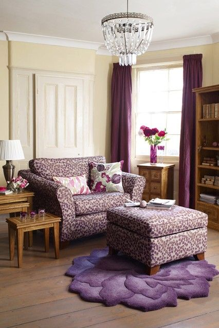 Purple passion beige living rooms furniture and search - Purple and tan living room ...