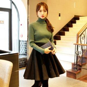 Korea Womens Luxury Shopping Mall [mimindidi] Happ Burning ♡ sk / Size : FREE / Price : 43.53 USD #korea #fashion #style #fashionshop #apperal #luxury #lovely #mimididi #bottom #skirt #flareskirt