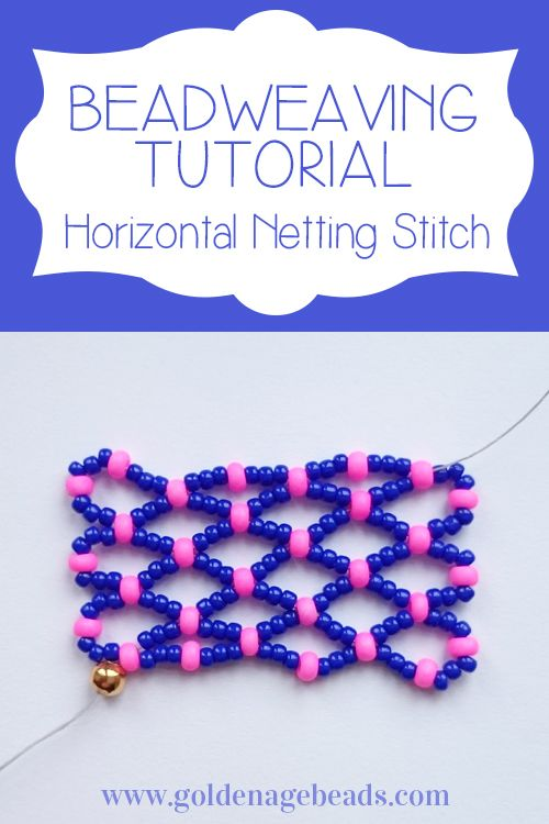 You can use netting stitch to form a base for bracelets and necklaces. On its own, netting stitch creates a pretty, lacy effect.