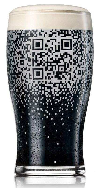Guinness QR Code Glass