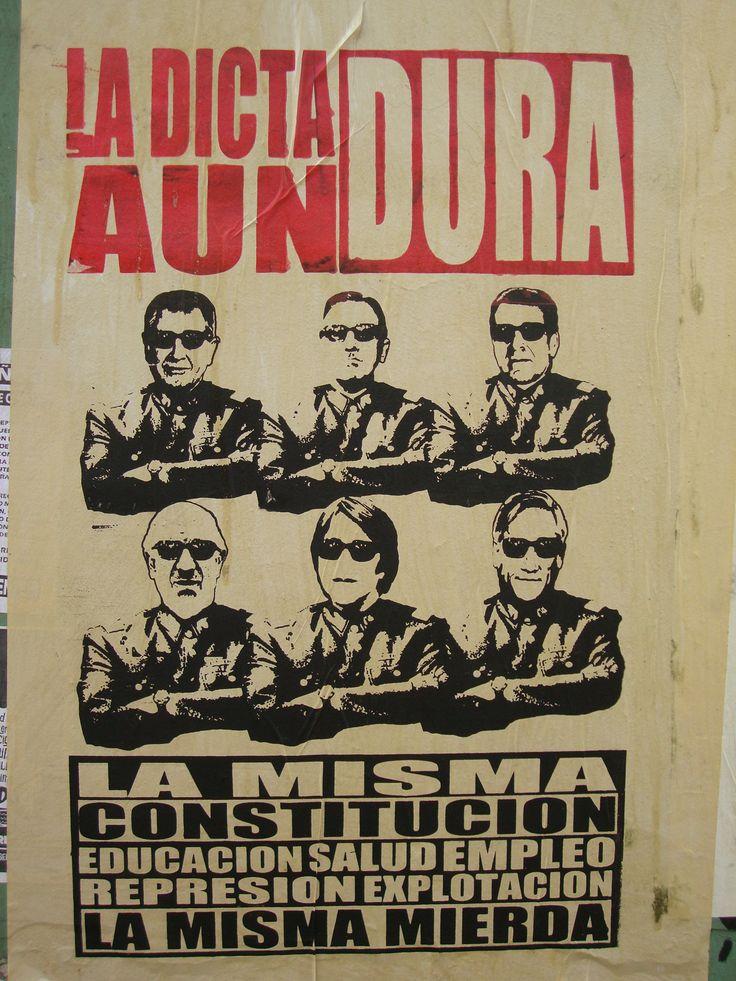 La dictadura aun dura. Santiago de Chile, Romería al Cementerio General, 8 de sept. de 2013. A 40 años del golpe.
