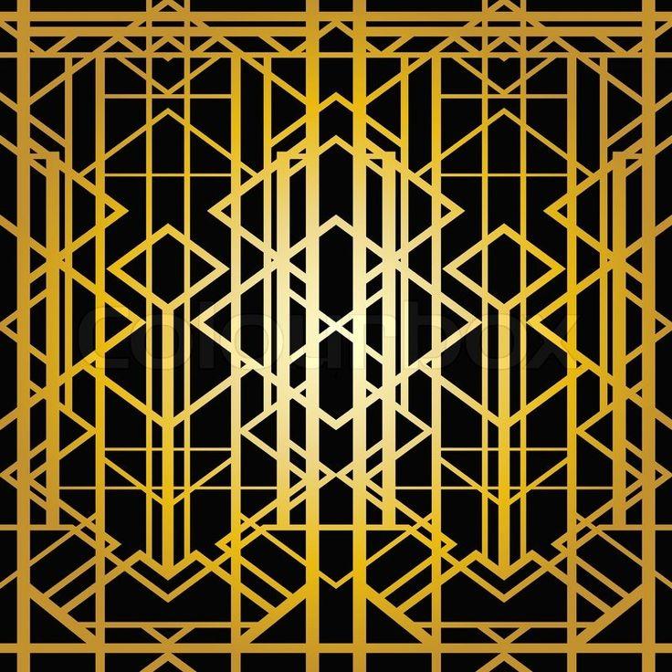 Art deco geometric pattern 1920 s style stock vector colourbox - Art Deco Geometric Pattern 1920 S Style Vector