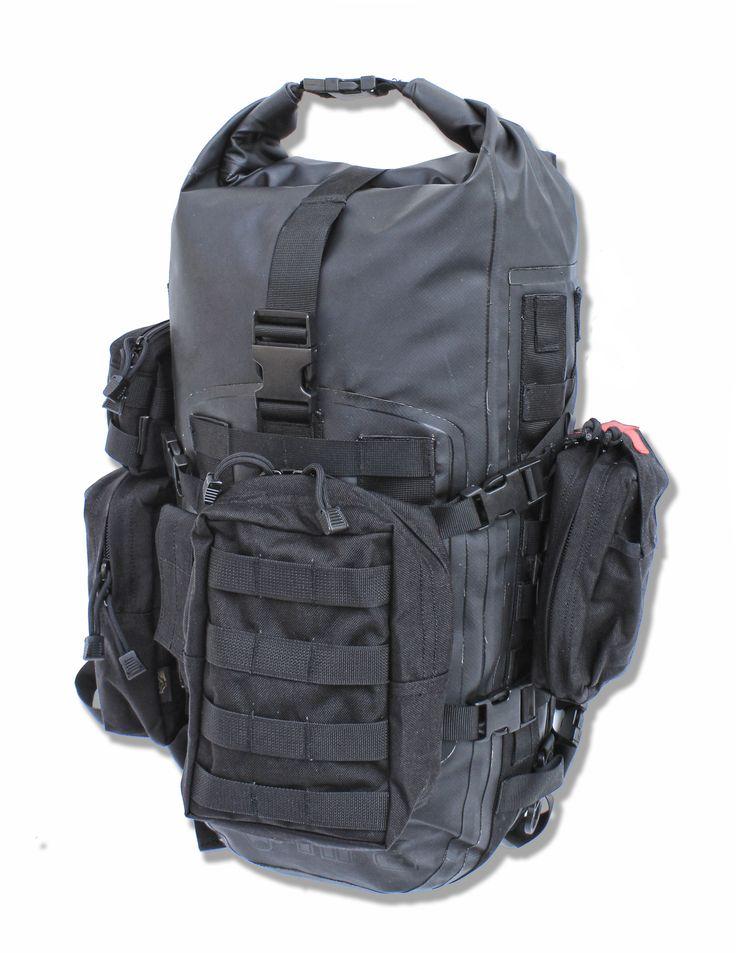Sac à dos étanche HPA Molledry 40 personnalisable par son utilisateur grâce aux multiples poches du système M.O.L.L.E #waterproof #backpack #outdoor #5C