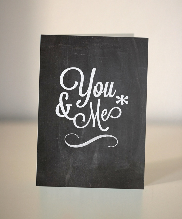 Valentine Card - You and Me
