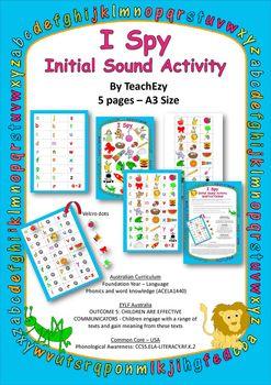 I Spy Initial Sound Activity