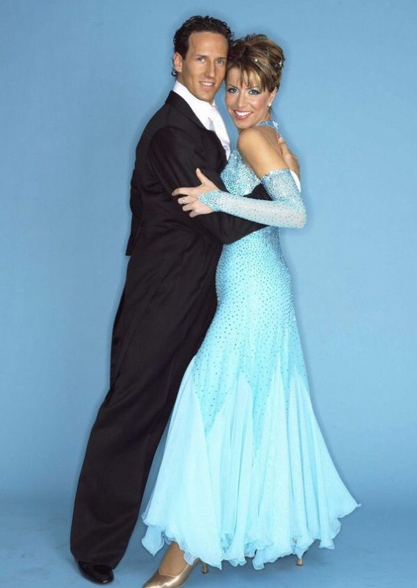 Natasha Kaplinsky and Brendan cole. Winners of the first Strictly Come Dancing 2003.