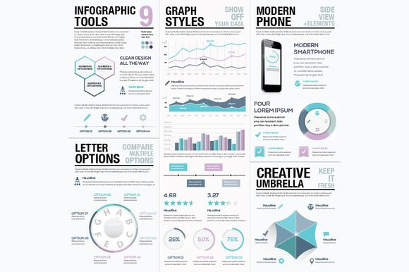 Infographic Tools 9 by MPF Design on Creative Market