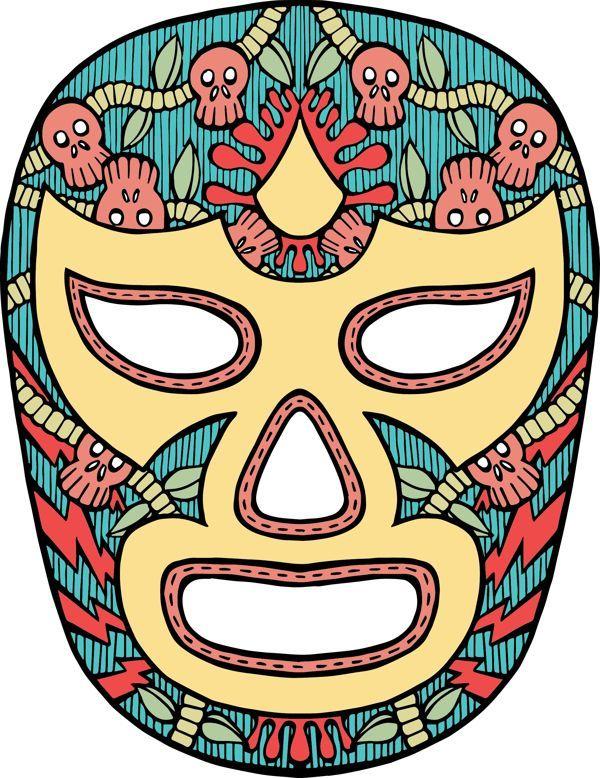 lucha libre art | Daily Work - Lucha Libre Mask by James Vadnais, via Behance