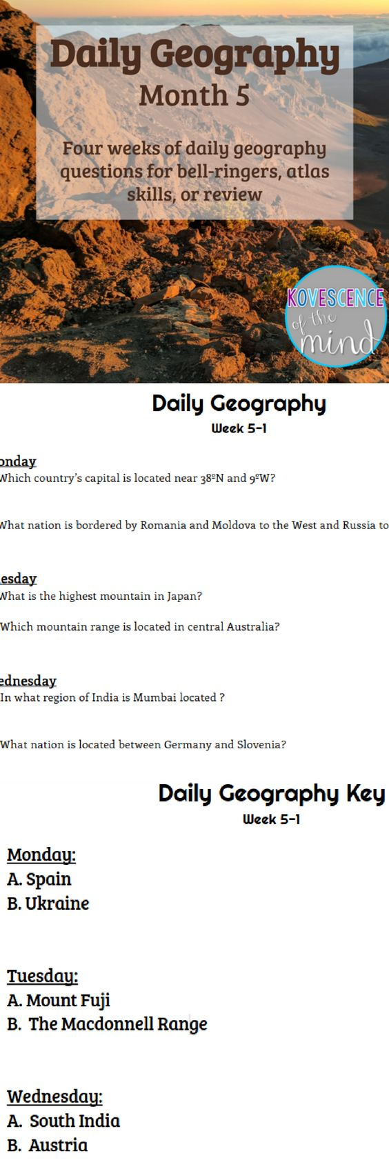 ideas about five themes of geography daily geography month 5
