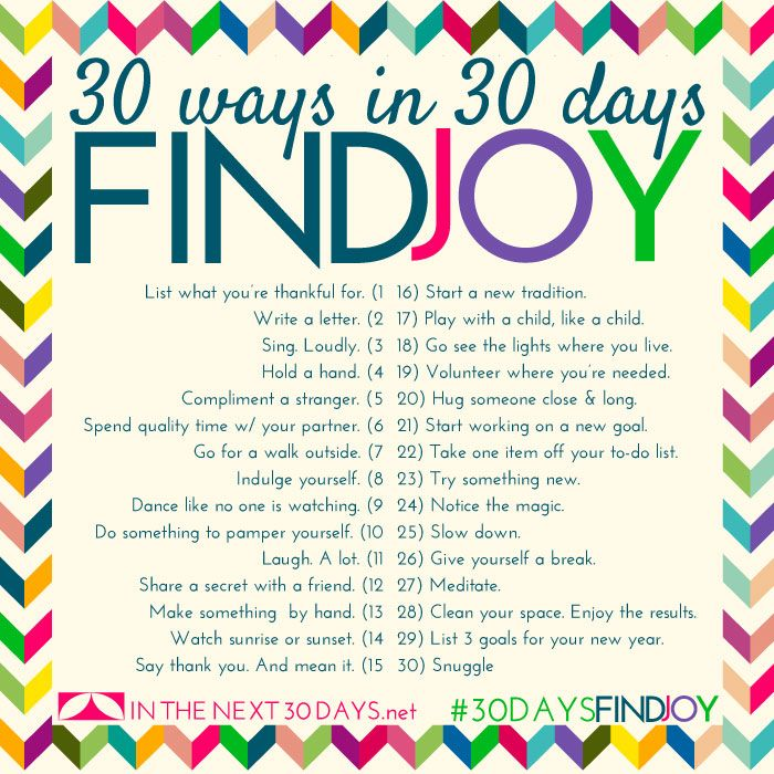 30 Days in 30 Days to Find Joy. | In The Next 30 Days                                                                                                                                                                                 More