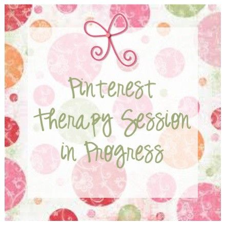 Pinterest therapy session involves more pinning! :)