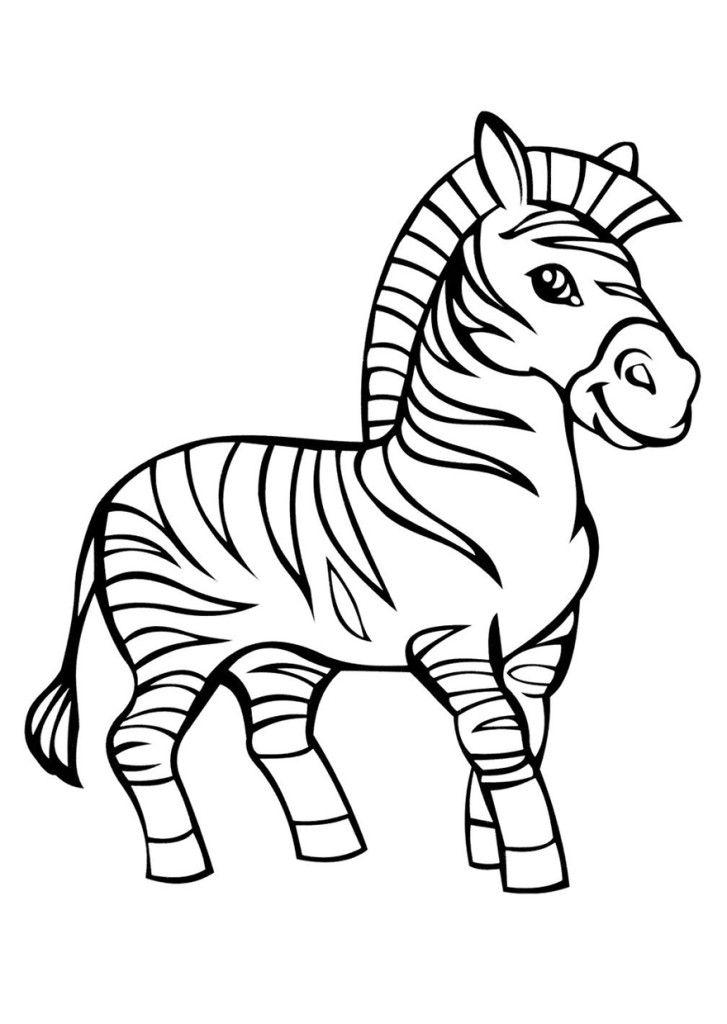 Раскраска для девочек - зебра