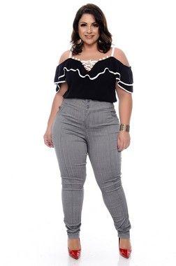 e0b64d143 Blusa Plus Size Fernanda