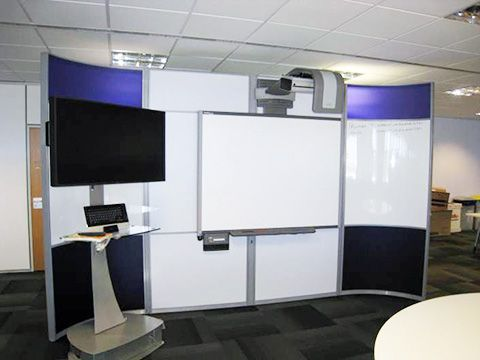 Cable Managed Floor Standing Screens Design And Specify Office Leeds Yorkshire
