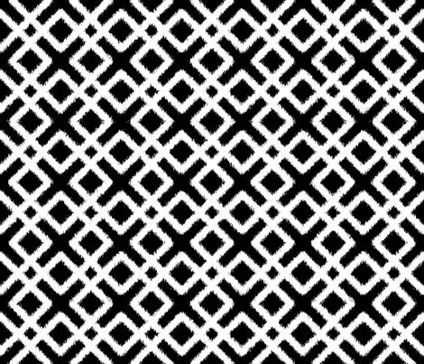 weave ikat black and white fabric by fridabarlow on spoonflower custom fabric