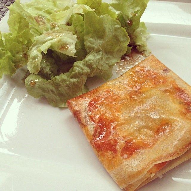 Brick à l'italienne (jambon italien, mozzarelle, sauce tomate, basilic)