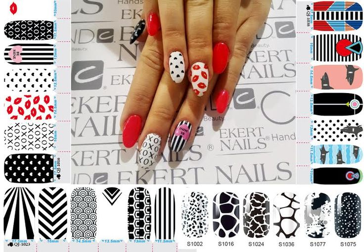 Perfect colorful manicure with nail stickers!  shellac, vinylux, cnd  #ekert #nails