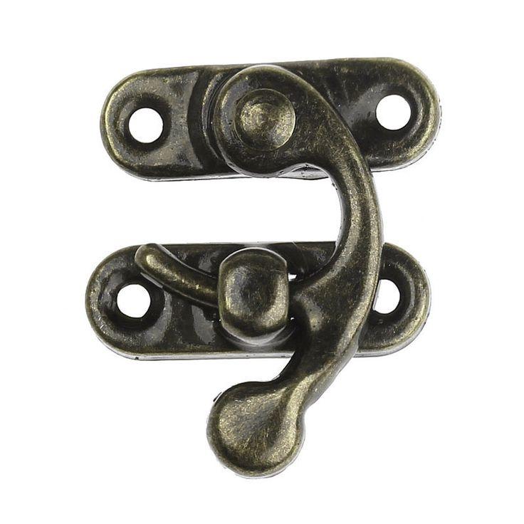 Fermoir loquet couleur bronze pour fermer un objet de votre création : Vitrines, maisons de poupée par morgeek