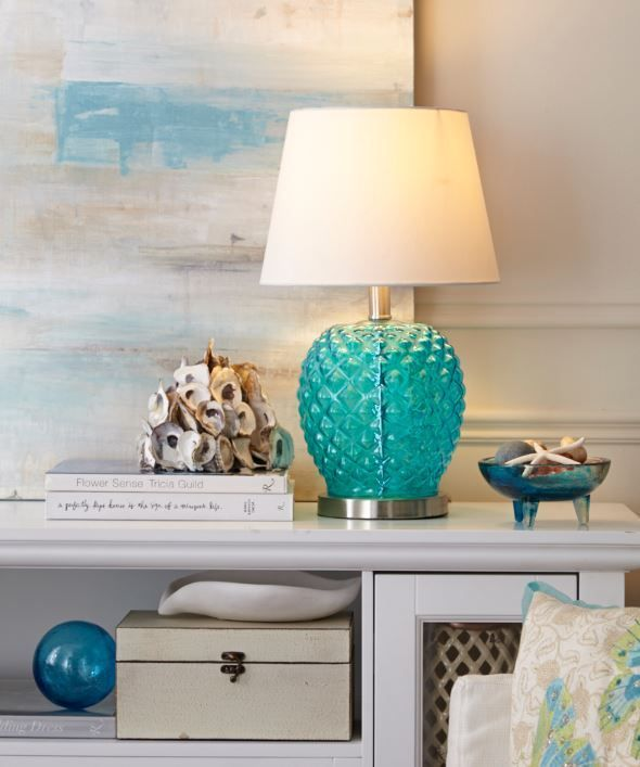 Going for a seaside look in your home?  Add style, function and colour to any room with the CANVAS Megan Table Lamp.  For more lamps, visit our new CANVAS Lighting Collection.
