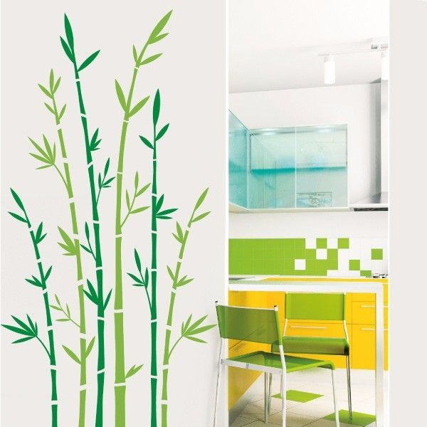 My vinilo. vinilos decorativos. decoración de pared. papel tapiz. Decohunter. Floral. Encuentra donde comprar este producto en Colombia. Green bambu