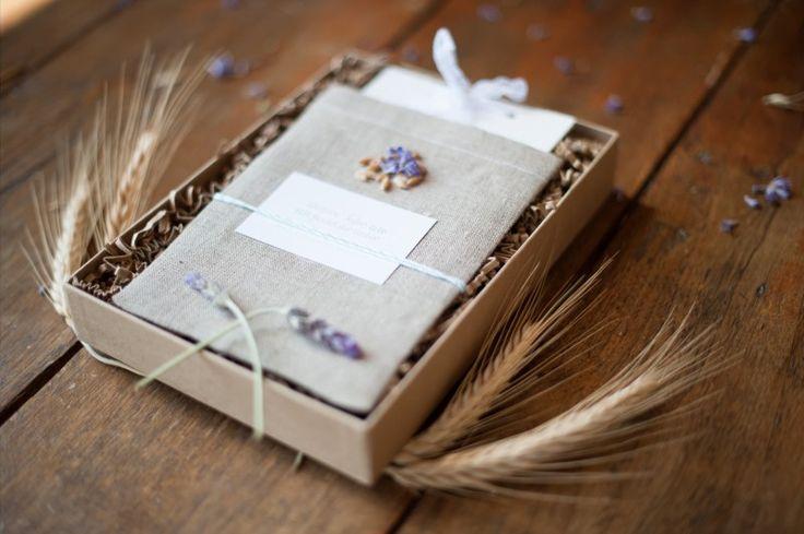 Boxed wedding invitation rustic kraft paper box for Rustic wedding invitations in a box