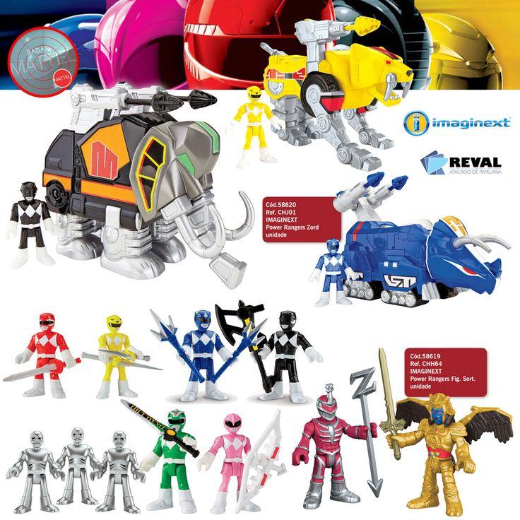 Peça pelo 0800-701-1811 ou pelos representantes de vendas de sua região e ótimas vendas!  Adicione mais poder às aventuras dos Power Rangers com este sortimento de zords que incluem também uma figura dos Rangers (código 58620, CHJ01)!  Já com os sortimentos de figuras (código 58619, CHH64), combine suas armas para formar o canhão do poder (cada produto é vendido separadamente, sujeito à disponibilidade)! Go Go Power Rangers!  #Reval #Mattel #RadarMattel #Imaginext #PR #PowerRangers
