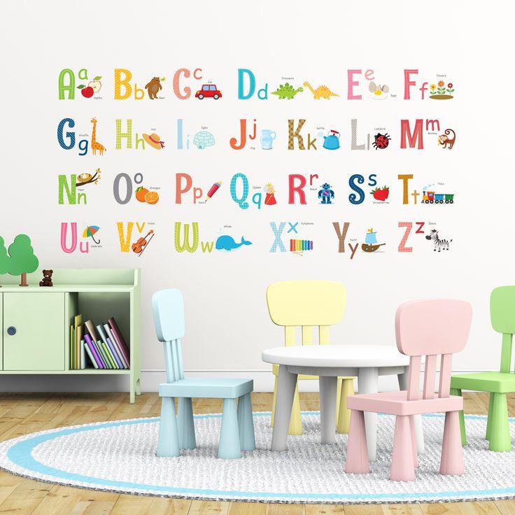 Alphabet Wall Stickers  https://www.amazon.com/Decowall-DA-1701-Alphabet-Nursery-Stickers/dp/B01MYBGC5D/ref=sr_1_1?ie=UTF8&qid=1494840304&sr=8-1&keywords=decowall+1701