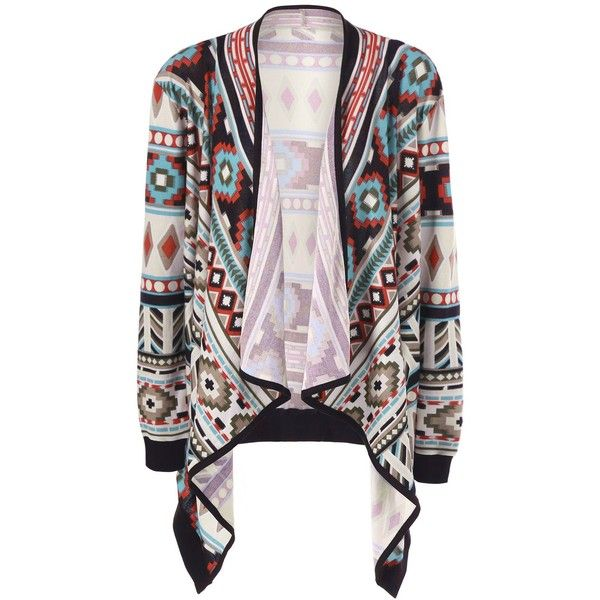 Plus Size Contrast Trim Tribal Cardigan ($15) ❤ liked on Polyvore featuring tops, cardigans, tribal print cardigans, cardigan top, white cardigan, tribal top and plus size white tops