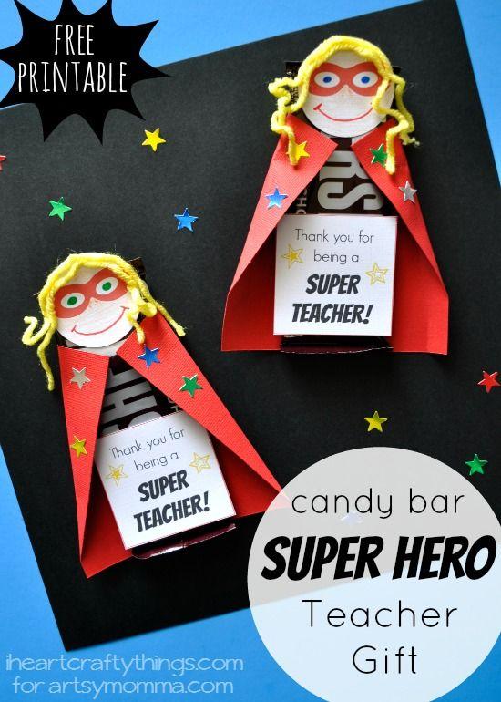 Super Hero Teacher Appreciation Gift - Mothers Day / Supermom idea