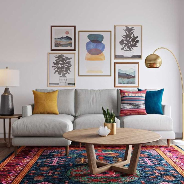 Bohemian Global Living Room Design In 2020 Global Living Room Beautiful Room Designs Havenly Living Room